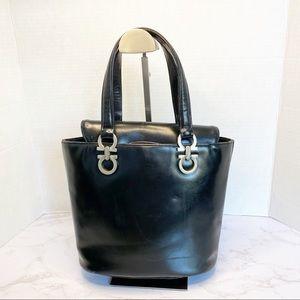 Authentic vintage Ferragamo leather bag purse
